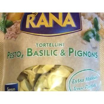 Tortellini pesto, basilic pignon